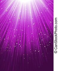 purpur, eps, baggrund., stjerner, 8, stribet