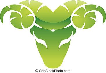 ram., grønne, blanke