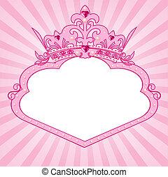 ramme, bekranse, prinsesse