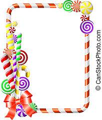 ramme, candies., farverig