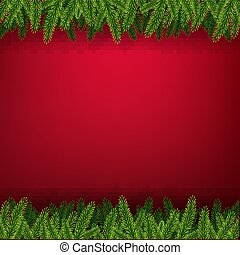 ramme, firtree, card christmas
