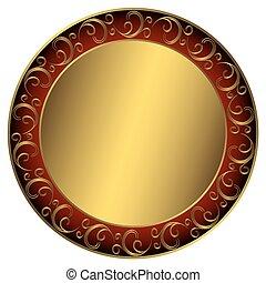 ramme, golden-red-black
