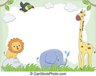 ramme, safari, dyr