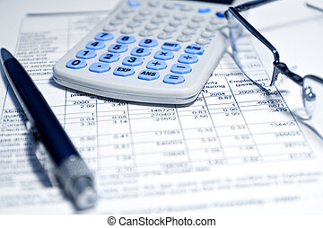 rapport, -, begreb, finansielle, firma