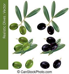 realistiske, olivener
