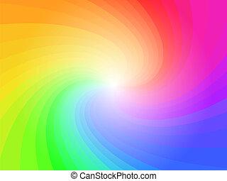 regnbue, abstrakt, farverig, baggrund mønster