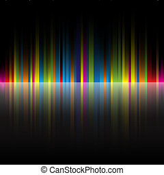 regnbue, abstrakt, sort, farver, baggrund