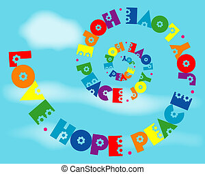 regnbue, constitutions, glæde, fred, spiral, håb