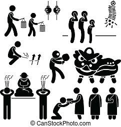 religion, asiat, kinesisk, tradition