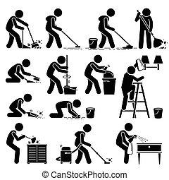 rensning hus, ren, vaske