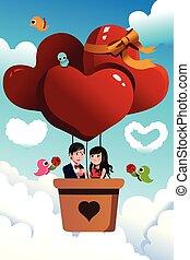 ride, par, balloon, hed luft