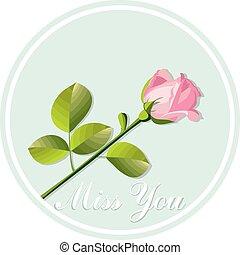 rose, card