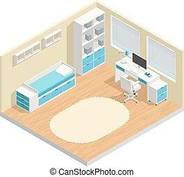 rum, børn, komposition