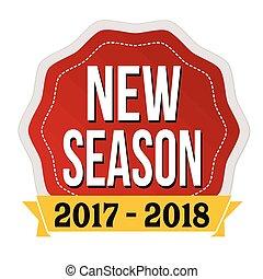 sæson, mærkaten, etikette, nye, 2017-2018, eller