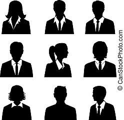 sæt, avatars, firma