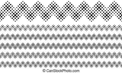 sæt, dele, mønster, abstrakt, geometriske, beklæde, cirkel