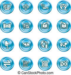 sæt, internet, eller, ikon, computing