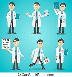 sæt, karakter, doktor
