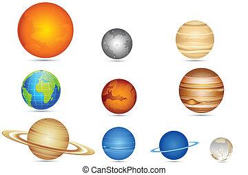 sæt, planetter