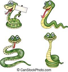 sæt, slange, samling