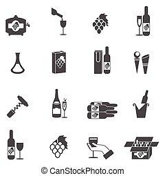 sæt, vin, ikon