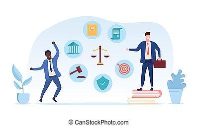 sagfører, tjenester, retfærdighed bane