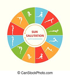 salutation, sol, asana, yoga