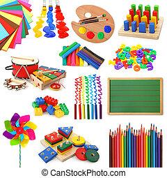 samling, legetøj