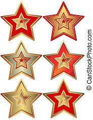 samling, stjerner, (vector)