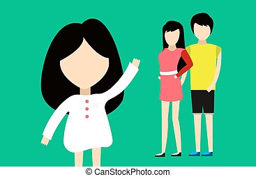 sammen., familie, happy., folk, vacation., relationships., tid, characters., hjem, far, portræt, mor, glade, cartoon, sommer, girl.