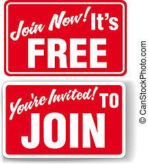 sammenvokse, invitation, frit medlemskab, tegn, nu