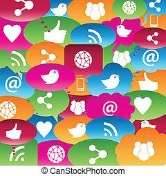 samtalen, netværk, sociale, bobler