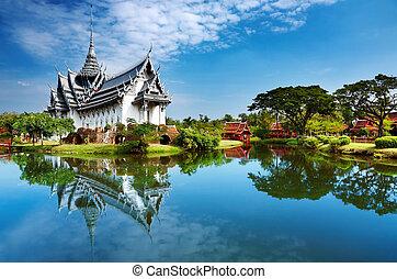 sanphet, palads, prasat, thailand