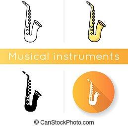 saxofon, ikon