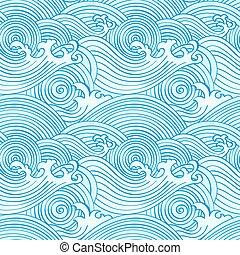 seamless, japansk, bølger