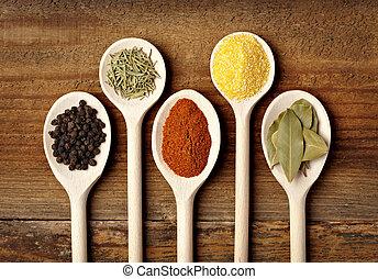 seasoning, mad, krydderi, ingredienser