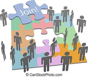 selskab, sociale, sammenvokse, opgave, folk