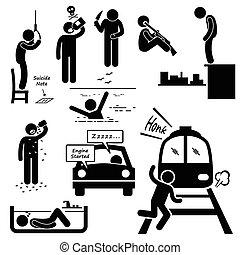 selvmord, forpligte, selvmords, metoder