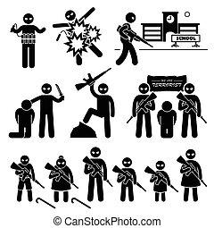 selvmord, terrorisme, bombefly, terrorist
