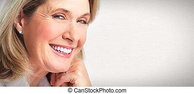 senior kvinde, portrait.