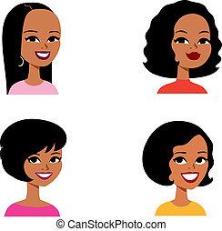 series, avatar, cartoon, kvinde, afrikansk