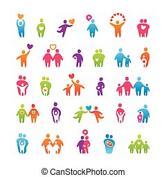 set-icons-people-love-family
