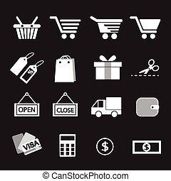 set., indkøb, ikon