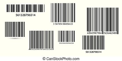 set., vektor, firma, barcodes
