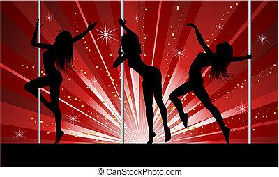 sexet, pol, dansere