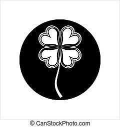 shamrock, kløver, fire blad, calligraphic