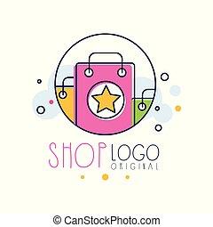 shop, emblem, shop, plakat, tag udsalg, illustration, element, klar, vektor, konstruktion, baggrund, logo, hvid, skabelon, original, banner