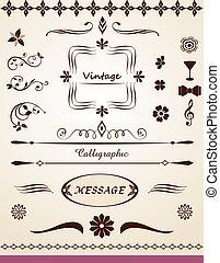 side, tekst, dekorationer
