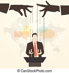 silhuet, taler, orator, offentlige tale, mand