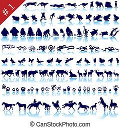 silhuetter, dyr sæt